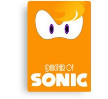 Daugther of sonic Canvas Print