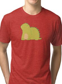 Happy Green Dinosaur Tri-blend T-Shirt