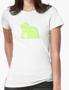 Happy Green Dinosaur Womens Fitted T-Shirt