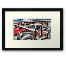 """Over Heatin' Just A-bit""... prints and products Framed Print"
