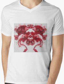 Rorschach Test Demon Mens V-Neck T-Shirt