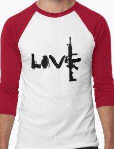 Love weapons - version 1 - black Men's Baseball ¾ T-Shirt