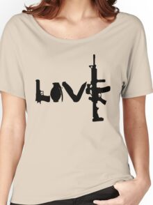 Love weapons - version 1 - black Women's Relaxed Fit T-Shirt