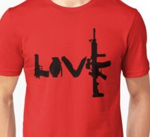 Love weapons - version 1 - black Unisex T-Shirt