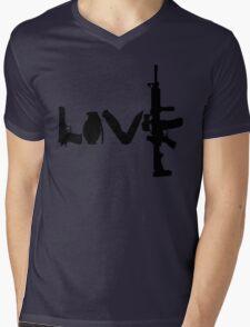 Love weapons - version 1 - black Mens V-Neck T-Shirt