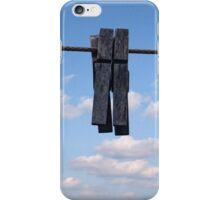Clothespins iPhone Case/Skin