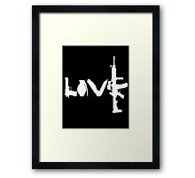 Love weapons - version 2 - White Framed Print
