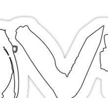 Love weapons - version 2 - White Sticker