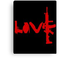 Love weapons - version 3 - red Canvas Print