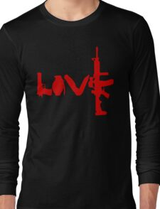 Love weapons - version 3 - red Long Sleeve T-Shirt