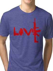 Love weapons - version 3 - red Tri-blend T-Shirt