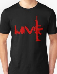 Love weapons - version 3 - red Unisex T-Shirt