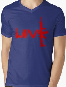 Love weapons - version 3 - red Mens V-Neck T-Shirt