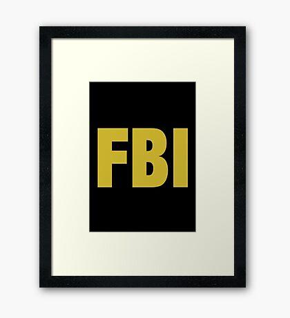 the X-files FBI Dana Scully & Fox mulder Jacket Framed Print