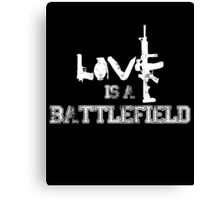 Love is a battlefield - version 2 - white Canvas Print