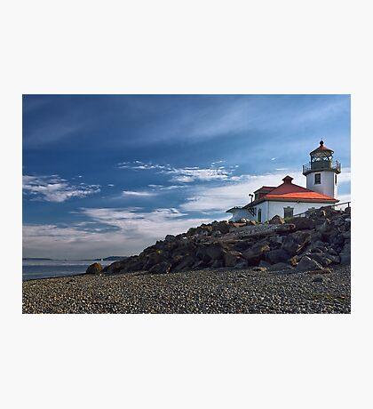 Alki Point Lighthouse Photographic Print
