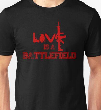 Love is a battlefield - version 3 - red Unisex T-Shirt
