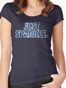 JUST SPARKLE. - Blue Women's Fitted Scoop T-Shirt