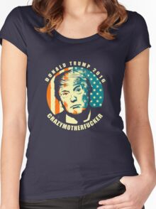 DONALD TRUMP POSTER Women's Fitted Scoop T-Shirt