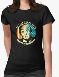 DONALD TRUMP POSTER Womens Fitted T-Shirt
