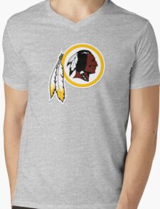Redskins Mens V-Neck T-Shirt