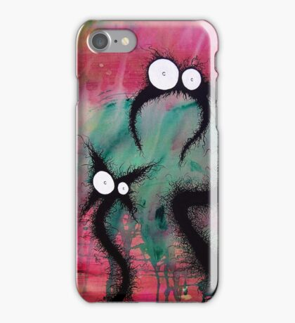 the creatures from the drain painting  11 iPhone Case/Skin