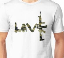 Love weapons - version 4 - camouflage Unisex T-Shirt