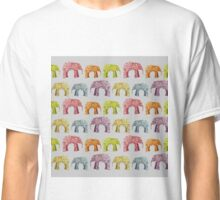 Bright Elephant Collage Pattern Classic T-Shirt