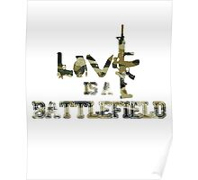 Love is a battlefield - version 4 - camouflage Poster