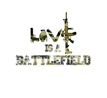 Love is a battlefield - version 4 - camouflage Photographic Print