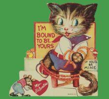 Vintage Valentine Bondage Cat Baby Tee