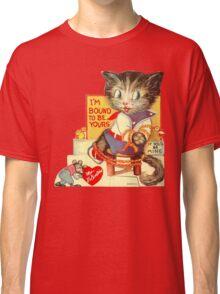 Vintage Valentine Bondage Cat Classic T-Shirt