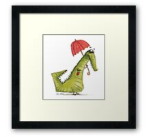Crocodile fashion Framed Print