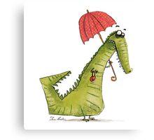 Crocodile fashion Canvas Print