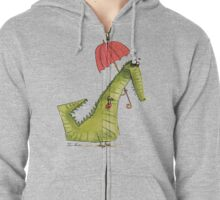 Crocodile fashion Zipped Hoodie