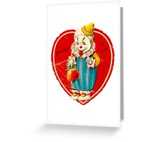 Vintage Valentine evil clown Greeting Card