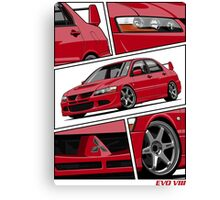 Mitsubishi Lancer Evolution VIII (red) Canvas Print