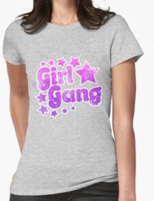 Vintage girl gang Womens Fitted T-Shirt