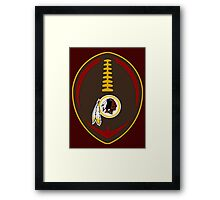 Redskins Vector Football  Framed Print