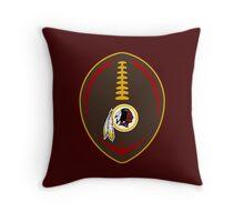 Redskins Vector Football  Throw Pillow
