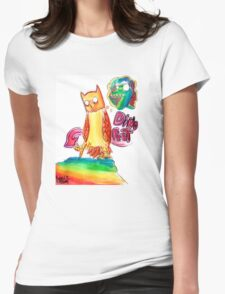 Dino Feet Womens Fitted T-Shirt