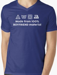 100% BOYFRIEND MATERIAL Mens V-Neck T-Shirt