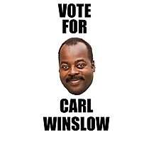 Vote for Carl Winslow 2 Photographic Print