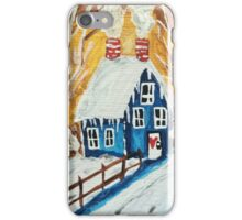 Snowy Cottage iPhone Case/Skin