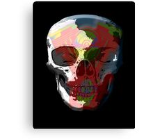 V Twin Skull red Canvas Print