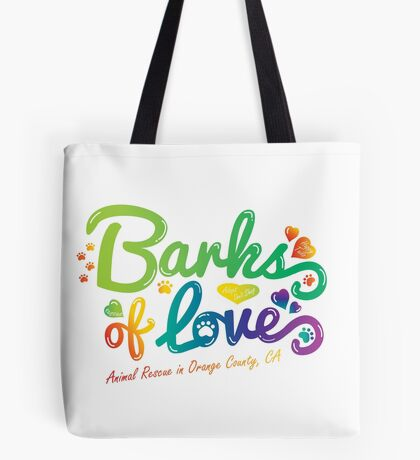 Merchandise - Barks of Love (Colors on White) Tote Bag