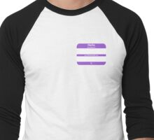 Hello, My PRONOUNS Are (Nonbinary Purple) Men's Baseball ¾ T-Shirt