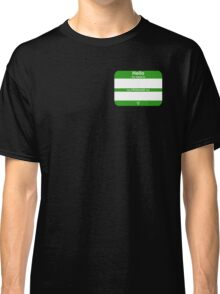 Hello, My PRONOUNS Are (Neutrois Green) Classic T-Shirt