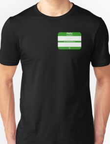 Hello, My PRONOUNS Are (Neutrois Green) Unisex T-Shirt