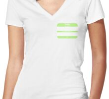 Hello, My PRONOUNS Are (Agender Chartreuse) Women's Fitted V-Neck T-Shirt